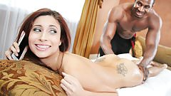 Jade Jantzen First Time Anal With Big Black Cock's Thumb