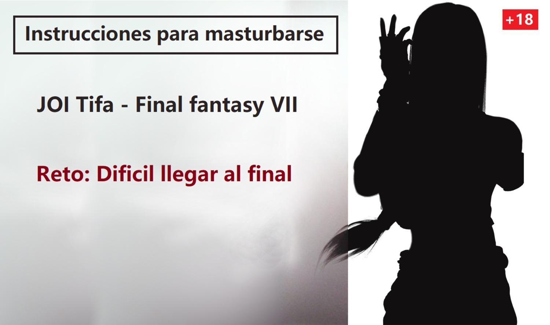 JOI hentai en espanol, Tifa te ha descubierto. Completo.