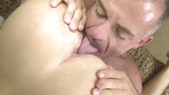 Gay boy on bottom moans sex video