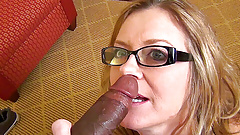 Cheating wife love sucking big black cock