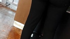 Black tight pant with a another woman