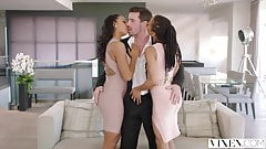 VIXEN Harley Dean and Kira Noir Share a Huge Cock