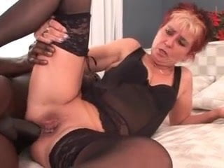 Horny mature and a BBC in all holes