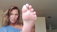 Mikayela Miles huge feet tease