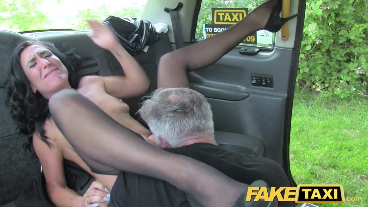 Rimming lingerie milf fake driver in taxi join. agree