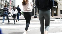 BootyCruise: Blonde Teen Gray Leggings Scene