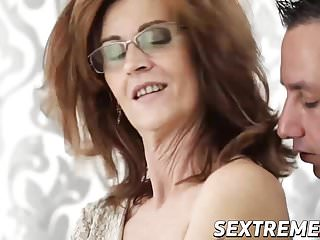 Small tits mature Mayna hammered deeply by a stiff cock