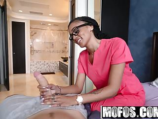 Mofos - Ebony Sex Tapes - Big Booty Nurse Heals Sick BF star