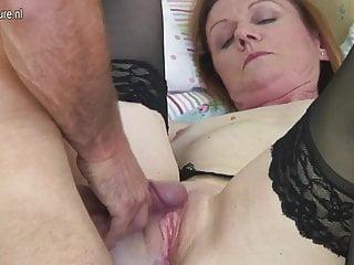 Mature mama fucking the boy next door