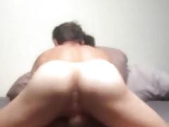 dad pounds his son bareback