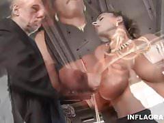 Kinky Whipping Bondage stunning German Milf