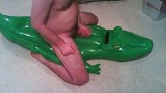 inflatable alligator hump