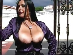 Busty German POV Satin Blowjob
