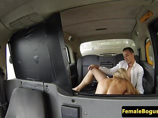 Preview 4 of Busty taxi driver doggystyled in cab
