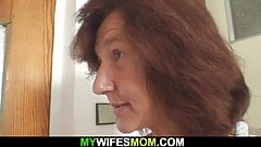 Very old mom in law rides her husband's cock's Thumb