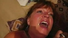 Mature woman cum swallow
