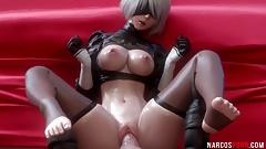 Beautiful 3D babes enjoy hard pussy ramming
