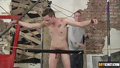 The devious boy flogging his tight butt