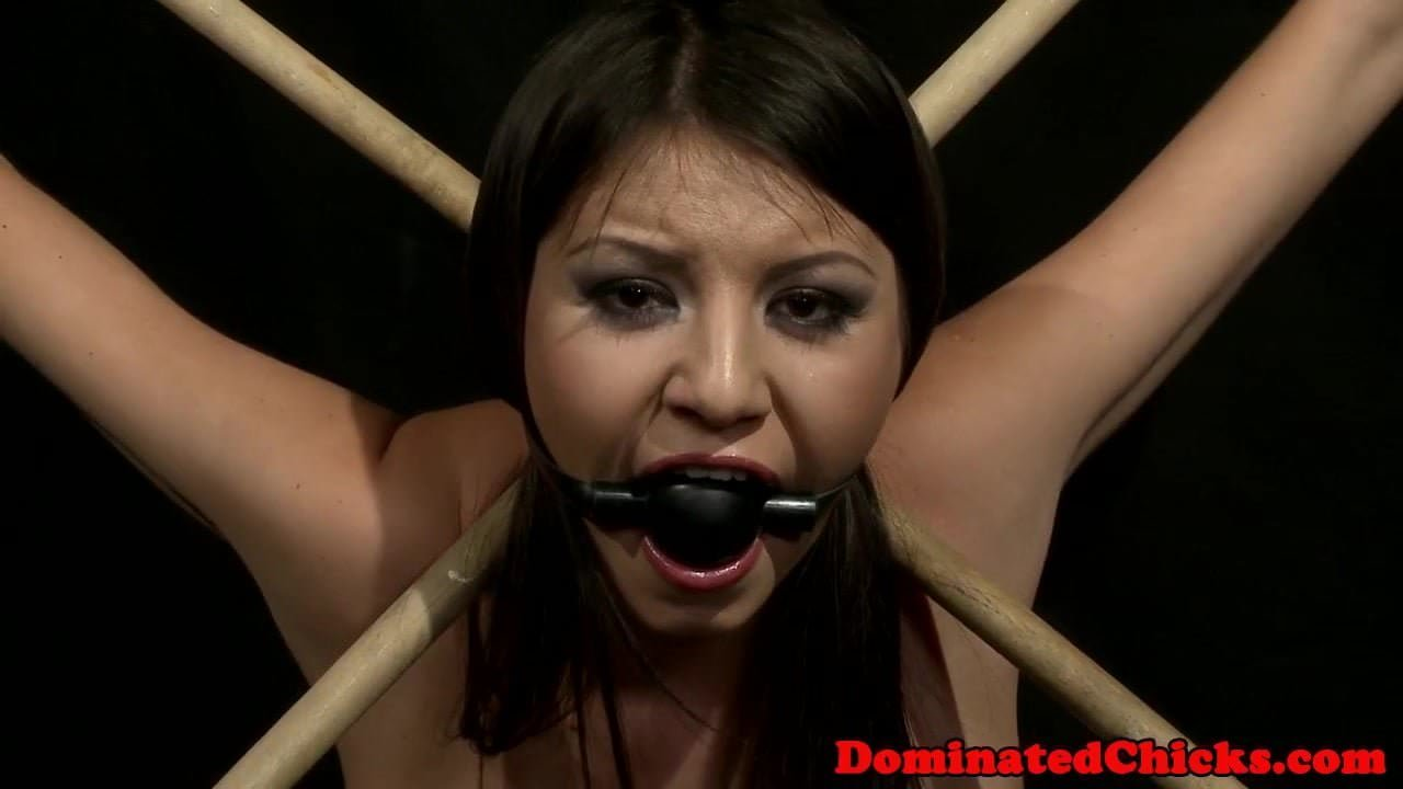 Tied helpless bitch and