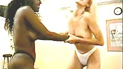 Mature blonde beat down (interracial)