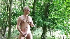 Wanking naked in public outdoor