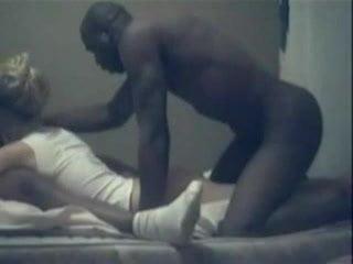 Two black dudes fucks skinny white girl