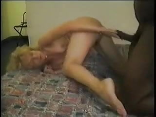 A white wife takes a heavy load from a BBC