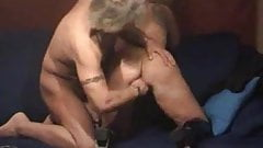 Kinky mature couple soak the bed