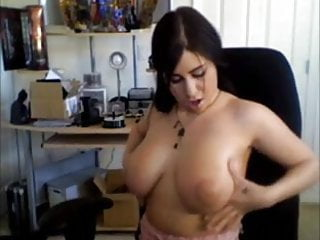 Busty Brunette Toys Herself On Cam