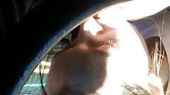 Car blowjob and swallow