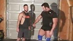 Tony Laron Wrestling gay muscle hunks