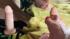 Teen sissy dildo footjob 's Thumb