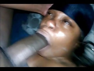 She suck his huge cock like an ice cream