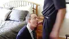 business man suck his boss
