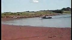 Granpa at the shore