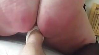 Mature BBW foot fisting