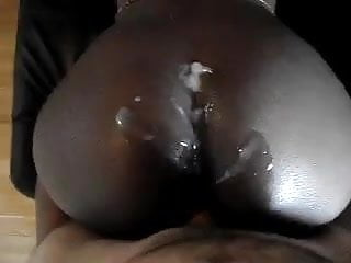 big load on fat black chetto ass