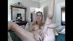 Hot grandma masturbating with dildo on cam