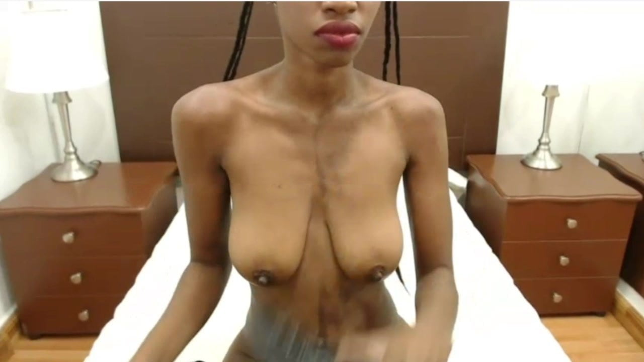 Black pussy and great tits