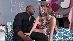 Schoolgirl Liza Rowe fucks 2 black teachers
