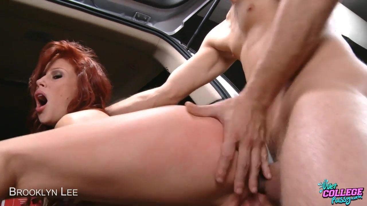 Redhea Gets Fucked Up The Skirt In Her Car