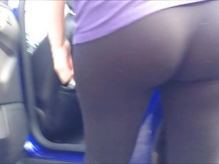 Ass in Spandex 5 (see through blue thong)