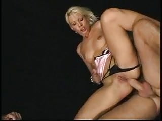 Smoking hot blonde in an ass gaping DP threesome
