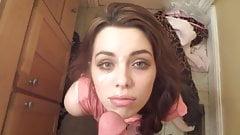 Some Girl Takes Facial in Bathroom