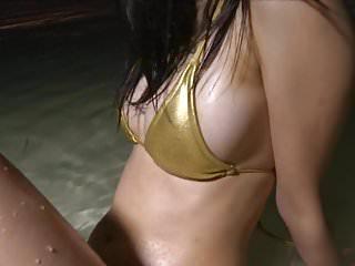 AYAKA - Oiled Up Gold Bikini Wet Fetish (Non-Nude)