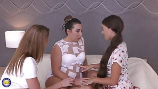 Taboo lesbian sex with moms n daughters
