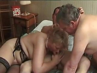 French mature bi-couple fucked hard by a french porn actor