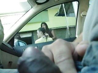 car flashing 3 girls