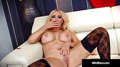 Penthouse Pet Nikki Benz Finger Bangs Her Hot Steamy Snatch!