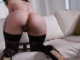 Stunning Luna Melba fucked on her oiled butt